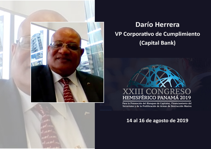 """Dario Herrera, Capital Bank: """"Somos un país comprometido con las leyes internacionales"""""""