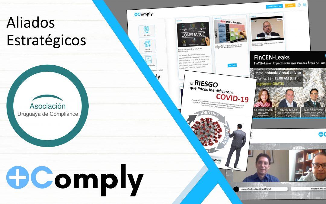 Plus Comply y Asociación Uruguaya de Compliance Firman Acuerdo de Capacitación